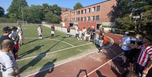 Nach dem Spiel im August 2020: ausgepowert nach einem schnellen spiel